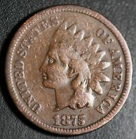 1875 INDIAN HEAD CENT - GOOD+