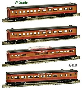 "N 1:160 Scale SOUTHERN PACIFIC ""SUNBEAM"" 4 Car Passenger Set MODEL POWER New"