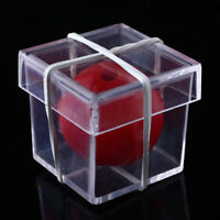 1x red Ball Through Box Funny Magic Magician Trick Conjuring Props  Toy *