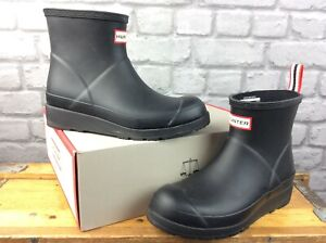 HUNTER LADIES UK 4 EU 37 ORIGINAL PLAY SHORT WELLINGTON BOOTS BLACK RRP £75 KL