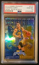 2012-13 Stephen Curry Panini Crusade Prizm Blue Gold Refractor PSA GEM MINT 10