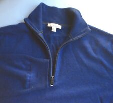 GAP blue with zipper collar  100% extra fine Merino wool sz L