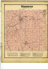 Rare 1870 Map of Madison, Ohio, with family names, from Columbiana County atlas