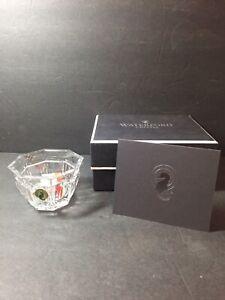 New Waterford Crystal Grafton Street Bolton Votive w/ Candle + Original Box