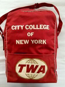 Vintage 1960's TWA CCNY flight bag + extra