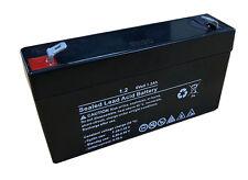 6v 6 Volt 1.2Ah 1200mAh Sealed Rechargeable Lead Acid Battery Burglar Alarm etc