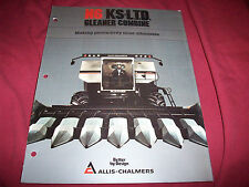 1983 Allis-Chalmers N6 KS L.T.D. Gleaner Combine Brochure Unused New Old Stock