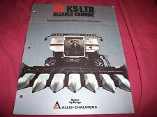 1983 Allis-Chalmers N6 KS L.T.D. Gleaner Combine Brochure Unused New Old Stock