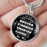 Great Gift To My Son - Love Mom Necklaces From Mother Mommy Mama for Birthday's