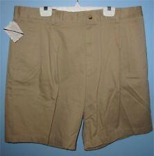 Men's Size 40 Haggar Classic Khaki Shorts 100% Cotton with Pleats