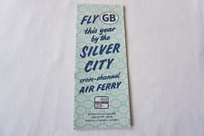 More details for 1959 silver city air ferry publicity timetable schedule horaire
