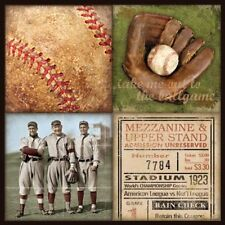 Baseball 4Patch Stephanie Marrott Art Print 12x12