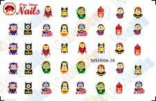 38pcs Minions Super Heroes Nail Art Decals Stickers Transfers. MSH006-38