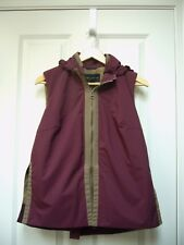New Elizabeth Roberts Womens Romantique Vest Hooded Lined Burgundy Size S