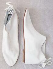 LES PRAIRIES DE PARIS Off White Suede Lace Back Bootie Ankle Boots 39 9