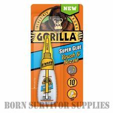 Gorilla Super Glue 12 G Pennello & Ugello-impatto resistente legno metallo plastica ceramica
