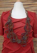 Zuza Bart * Design HAND MADE incredibile BELLISSIMO ECCENTRICO Lana Collana ** Multicolore **