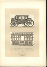 Europe 16th 17th Century Decadent Carriage Exquisite c.1888 antique lovely print
