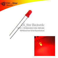 100pcs LED 3mm Diffused Red-Red Round Top F3 DIP Light Emitting Diode LED