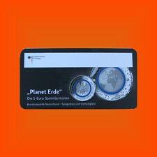 5 EURO Planet Erde Ankündigungskarton Sammlerkarte Flyer BRD 2016 - Fehldruck