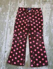 MINI BODEN Girls Brown Pink Polka Dot Heart Knee Patch Corduroy Pants Size 11