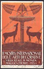 MONZA CITTÀ 51 II MOSTRA ARTI DECORATIVE 1925 illus G. GUERRINI Cartolina viagg.