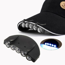 Clip-On Pesca 5 LED luz cabeza lámpara antorcha caza Linteras de cabeza