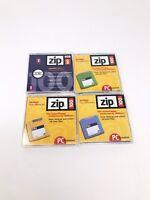 Lot of 4 iomega Zip Disk  Zip Drive Floppy Disks Used 4 100mb