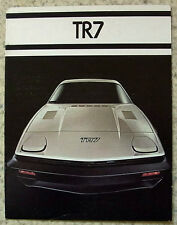 TRIUMPH TR7 USA Specification Sports Car Sales Brochure 1977 #400M 6.77
