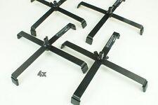 4 Floorstand EUROLITE FS1 schwarz Bodenstativ 215mm x 215mm Belastung max10,0KG