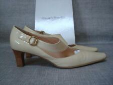 RUSSELL & BROMLEY UK 6 TICKLE BEIGE PATENT LEATHER SHOES BOXED