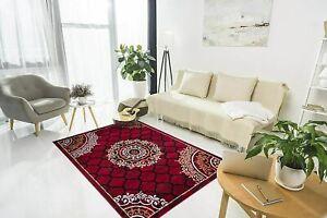 Red, Solid Modern Rectangular Carpet Of Polypropylene For Home Decor, 3 x 5 Ft