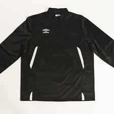 Umbro Men's Pro-Training 1/4 Zip Black/White Training Jersey Activewear