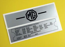 MGB Vintage early style Rocker Valve Cover stickers decal, gloss laminated