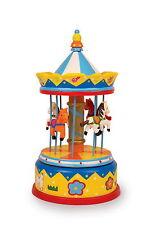INTERESSANTE Grande Colorato Giocattolo in Legno Carillon giostra cavalli da LEGLER