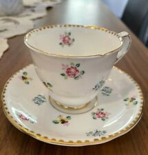 """Vintage Royal Stafford """"Rose Pansy Forget me not""""  Bone china Tea Cup & Saucer"""