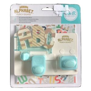 American Crafts 663004 We R Memory Keepers Mini Alphabet Punch Board