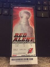 2012 NEW JERSEY DEVILS VS NEW YORK RANGERS PLAYOFFS GAME #6 TICKET GO TO CUP