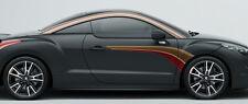 2 X BANDES POUR PEUGEOT RCZ 208 SPORT 130cmX38cm AUTOCOLLANT STICKER AUTO BD557