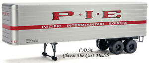 (2)  P.I.E 35' Fluted Side Trailers HO 1/87 Scale Walthers Scenemaster 949-2411