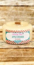 Apple Cinnamon 8oz and 16oz  Soy Candle Highly Scented Glass Jar Wood Wick
