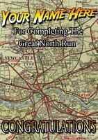 Great North Run Congratulations Card PIDX23 A5 Personalised Greeting Card ANY