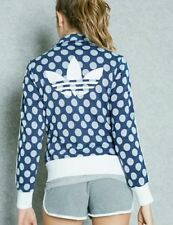 Adidas Originals Womens Firebird Track Jacket Blue White Dots Size 34 / UK8