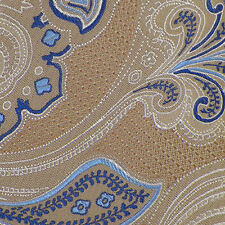 JOS. A. BANK RESERVE Beige Navy White PAISLEY Self-tipped Woven Silk Tie NWT