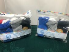 Garanimals Toddler Boys Ankle Socks 20 Pairs Multicolor 18-36 Months BNWOT
