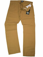 Dickies Hose Ridgeway 5 Pocket Cargo Jeans Ocker / Braun Rockabilly  5048