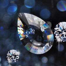 12PCS Clear Glass Crystal Lamp Prisms Hanging Drops Pendants Suncatchers 38mm