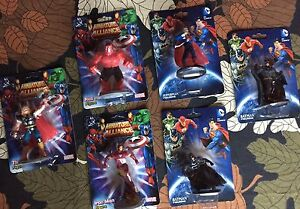 9 MINI ALLIANCE MARVEL &  DC HULK THOR IRON BAT SUPER WONDER  FLASH FIG LOT