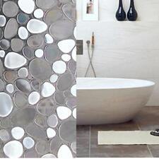 Removable 45x100cm Cobblestone Shaped Glass Sticker Bathroom Slide Door Window