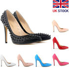 [Black Friday] LADIES HIGH HEELS POINTED CORSET PUMP COURT SHOES RIVETS SIZE 2-9